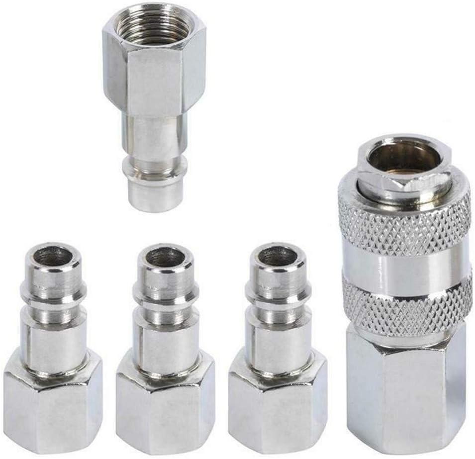 Juego de 10 Conectores de Manguera de jard/ín de pl/ástico CZSYZCZS 6 Conectores r/ápidos de Extremo de Manguera de 1//2 Pulgadas y 2 Conectores roscados 2 en 1 Incluye 2 Conectores Macho Doble