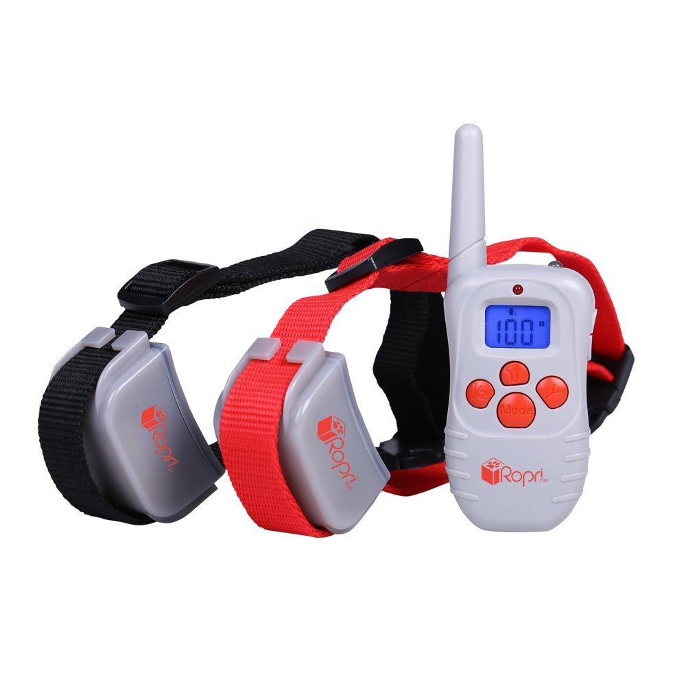 RopriPet Active Collar Dog Training Collar with Remote. Water Resistant, 330 Yard (990ft) Range