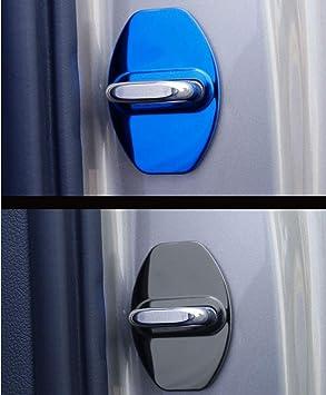 LAUTO 4pcs Couvercle en Acier Inoxydable loquet de Verrouillage Convient pour Benz AMG W204 W212 X204 W164 W166 W245 R172,Bleu
