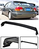 VXMOTOR for 1996-2000 Honda Civic 4 Door 4DR Sedan Mugen Style ABS Plastic Rear Trunk Lip Wing Spoiler