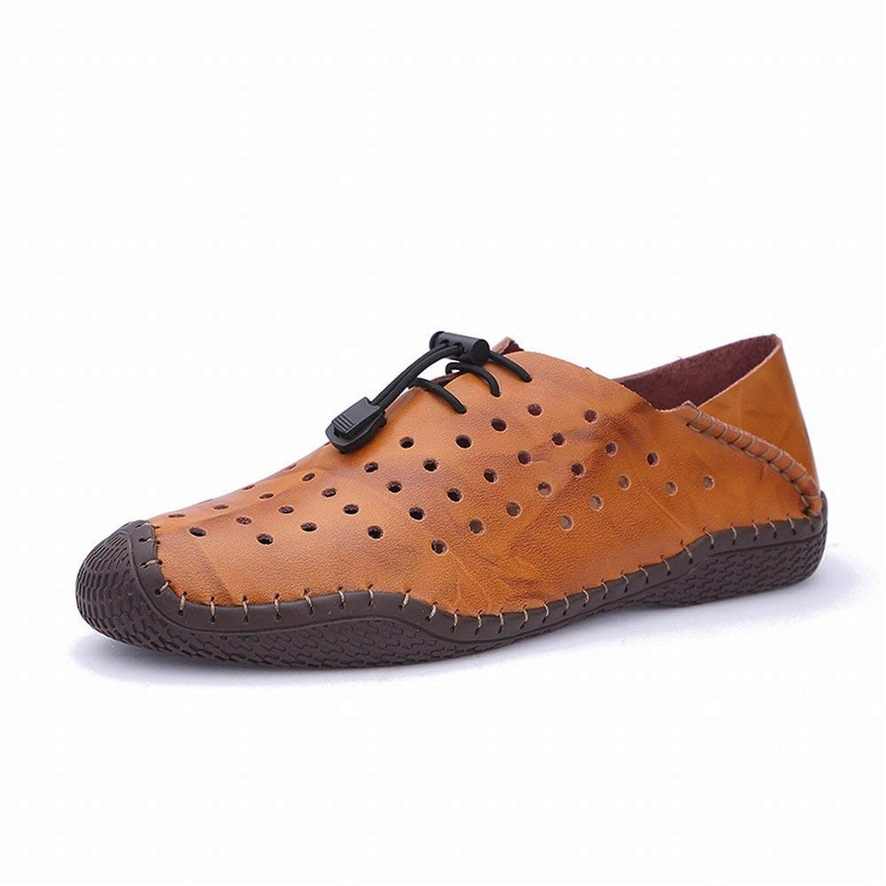 FuweiEncore Hohl Schuhe Sandalen Männer Baotou Hausschuhe Loch Herrenschuhe Herrenschuhe Herrenschuhe Lederschuhe Strand Atmungsaktive Sandalen (Farbe   Schwarz, Größe   41) d35beb