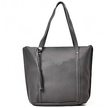 03c31fc08b5 Image Unavailable. Image not available for. Color  bilang 4pcs Women  Leather Handbag Lady Shoulder Bags Tote Purse Messenger Satchel Set