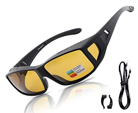 5383d7d3e7b Image Unavailable. Image not available for. Color  O-LET Night Vision  Glasses Fit Over Prescription Gasses or Readers