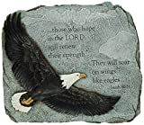 Joseph Studio 60873 Soaring Eagle Garden Stone with Verse They Will Soar on Wings Like Eagles Isaiah 40:31, 11-Inch For Sale