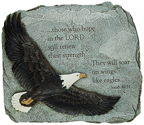 Joseph Studio 60873 Soaring Eagle Garden Stone with Verse They Will Soar on Wings Like Eagles Isaiah 40:31, 11-Inch