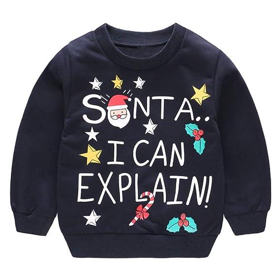 Conjuntos de Sudadera Pullover sin Capucha Disfraz Navidad para Niñas Niños 6 Meses-4 años