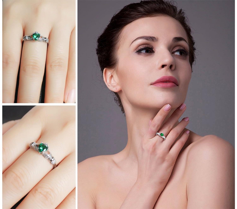 Amazon.com: JewelryPalace Heart 0.5ct Irish Celtic Claddagh Nano ...