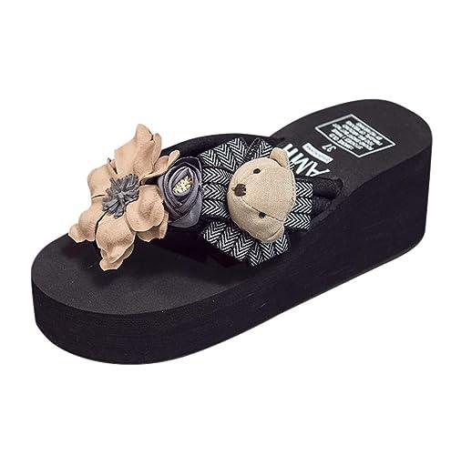 4df99bb4904ff Boomboom Women Sandals Women s Wedge Sandal Sandals Ladies Mid Heel Flip  Flops Sandals Black