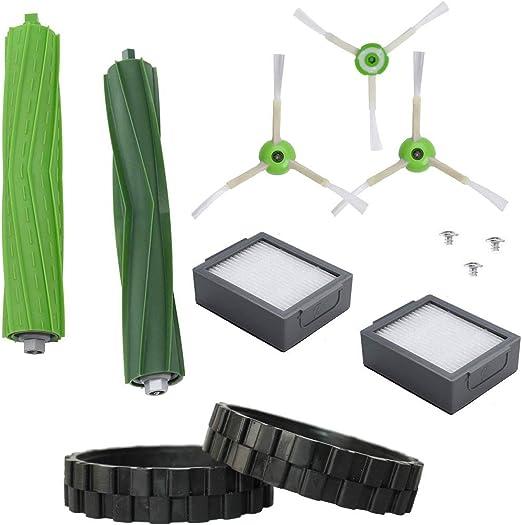 EPIEZA Kit de Neumaticos + Cepillos + Rodillos + Filtros. Repuestos Accesorios para Aspiradoras iRobot Roomba Serie i7 E5 Pack de 12 uds: Amazon.es: Hogar