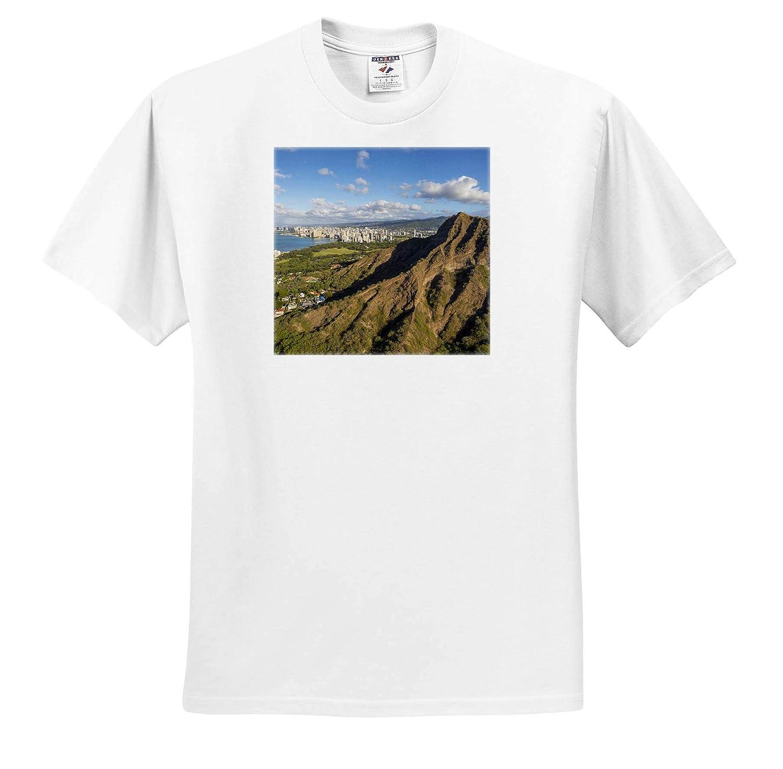 Hawaii Diamond Head Adult T-Shirt XL 3dRose Danita Delimont Hawaii ts/_314791 Oahu Waikiki
