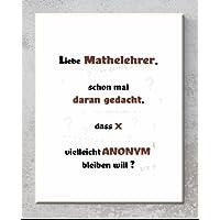 Keramik-Schild – Liebe Mathelehrer - Wandbild mit Spruch für Freunde und Familie perfekt als Geschenk - Druck - Dekoration – Handmade von Bio Arts