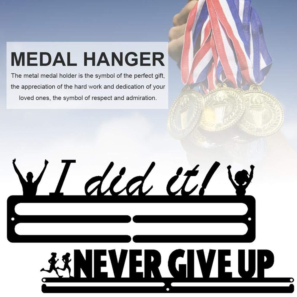 Colgador de para medallas Medallero de triatl/ón suspensi/ón Doble Pantalla Colgador mysticall Running Medal Holder