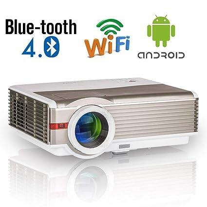 Proyector de Cine en casa para Exteriores con Bluetooth, Proyector ...