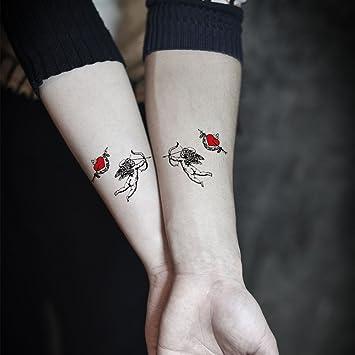 TAFLY Cupid Lovers - Adhesivos temporales para tatuaje (5 hojas ...
