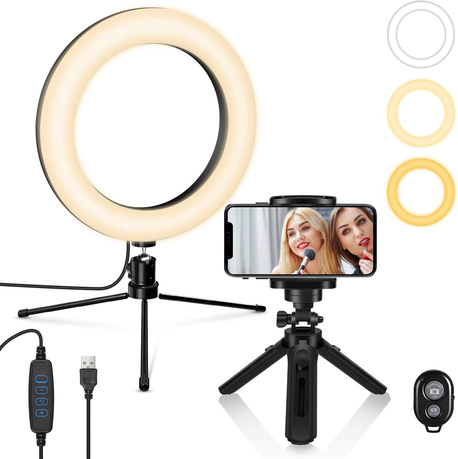 Zronji Broadcast Live Photography Fill Light LED Camera Phone Flash Dimmable Light On-Camera Video Lights