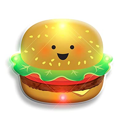 blinkee LED Happy Hamburger Flashing Body Light Lapel Pins by: Toys & Games