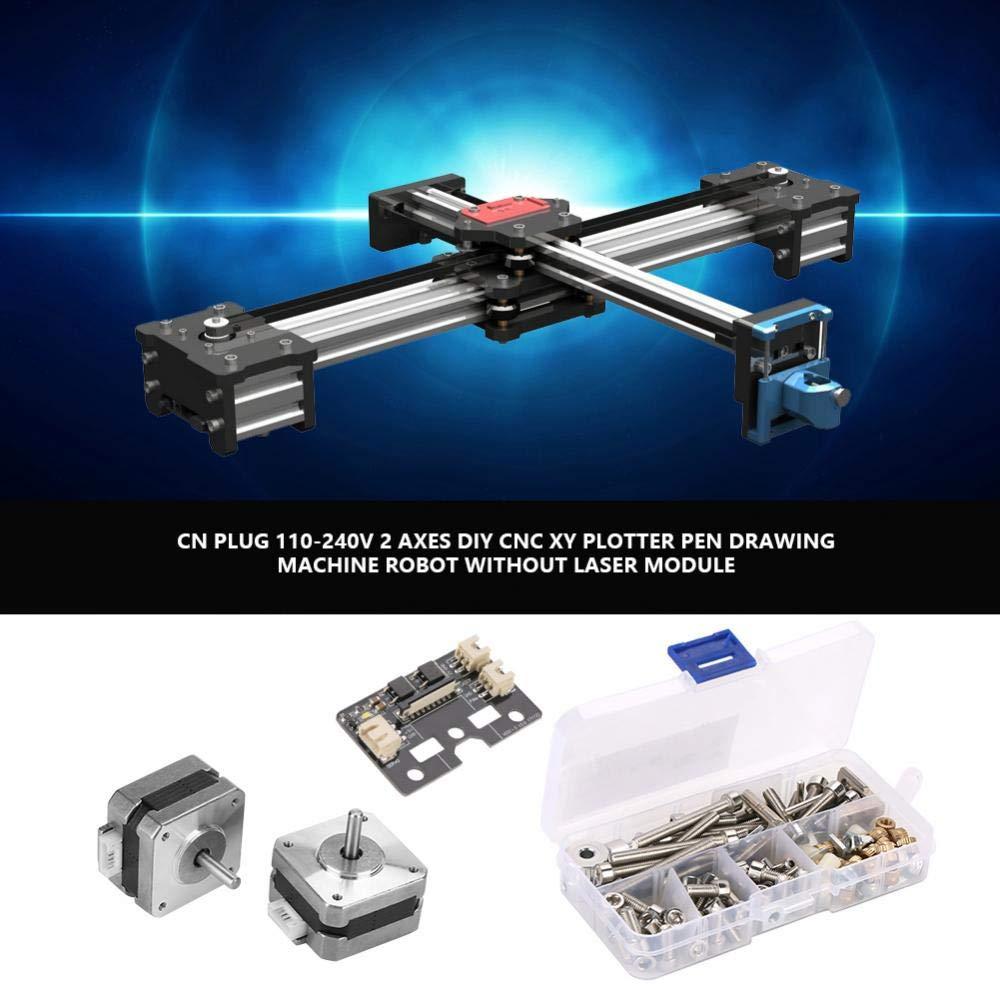 Máquina de dibujo 110 – 240 V 2 ejes montado en laboratorio XY Plotter – Pintura/escritura a mano robot KitDIY CNC XY Plotter Pen máquina de dibujo robot sin módulo láser CN