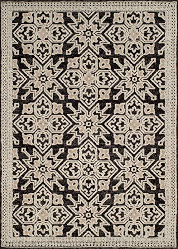 United Weavers Chenille Area Rug 1515-40276 Lattice Onyx Crosses Angled 2' 7