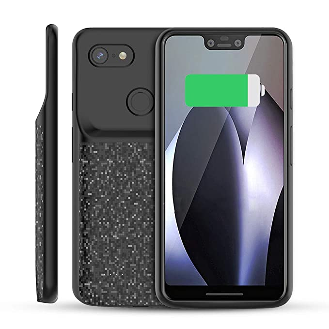 new product fa6d3 d93ad BasicStock Google Pixel 3 XL Battery Case, 4700mAh Rechargeable Portable  Extended Battery Backup Charger Case External Juice Power Bank Protective  ...