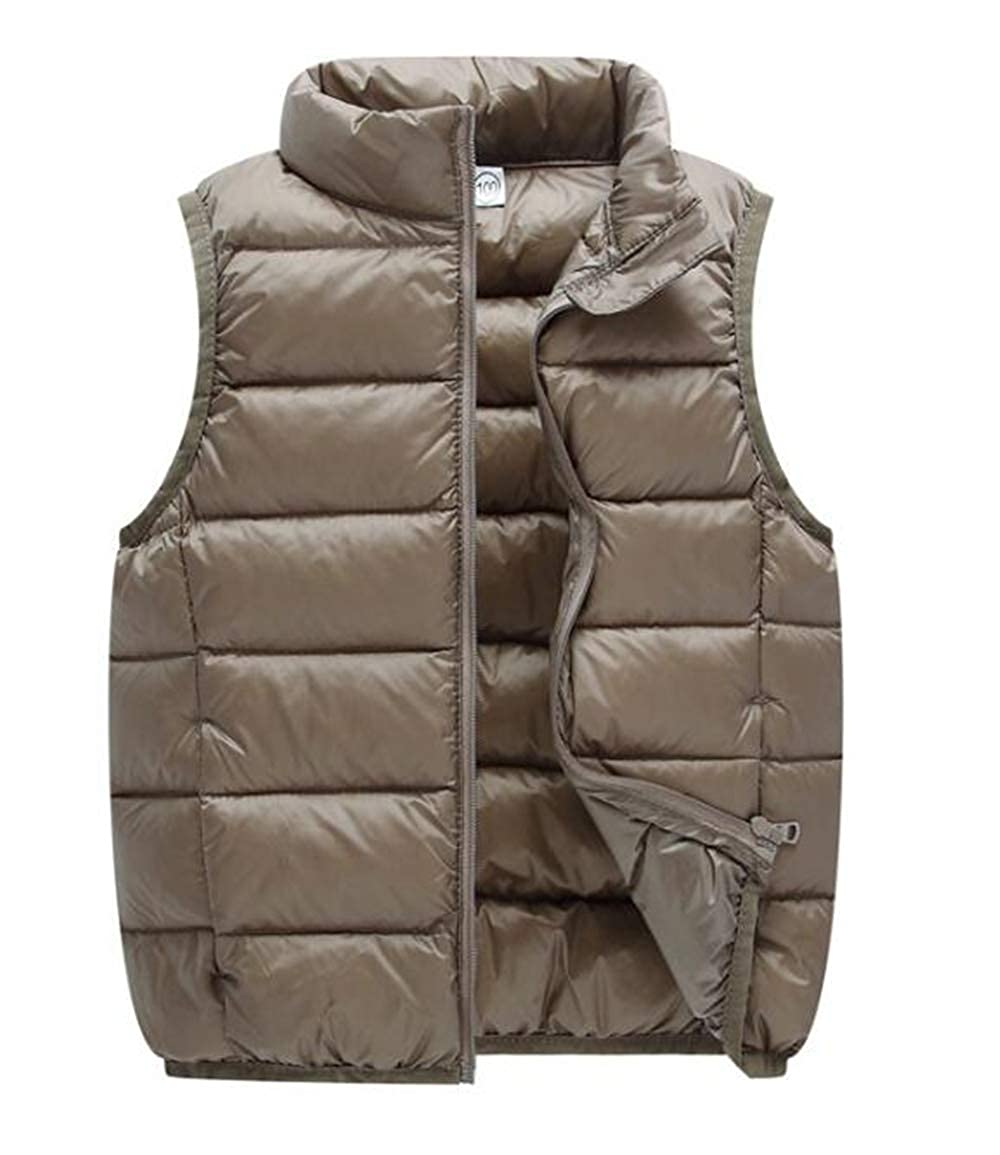 Elishow Little Girls Boys Down Vest Puffer Sleeveless Outfit Zipper Pocket