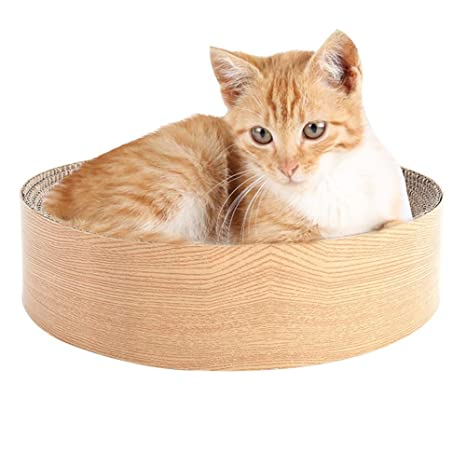 Funihut Nido de Gato Cama griffoir para Gatos Juguete para Gato Gran Cama Redonda de Gato ...