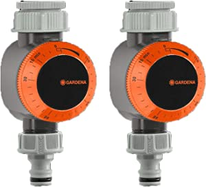 Gardena Quick Connect Mechanical Garden Water Timer with Flow Control (2 Pack)