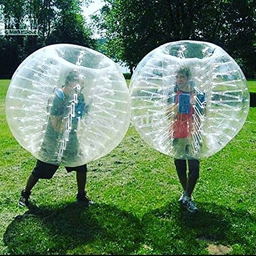 Stagersoccer® Kids Size Bubble Soccer Ball Inflatable Bumper Ball Dia 4 (1.2m) for Parties Schools Activities Transparent Clear 1 per Box