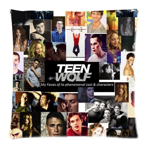 Atnee Cool Unique Teen-Wolf Actor Collections Cotton And Polyester Square Zippered Pillowcases Case 18 by 18 (Teenwolf Costumes)