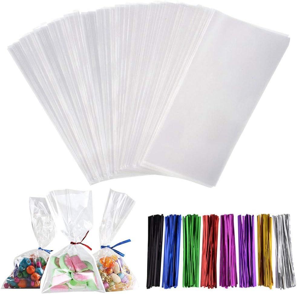 SZWL Trattare Borse 200PCS Treat Bags Sacchetti di Trattare di cellophane Trasparente