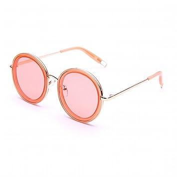 XW Gafas de Sol Al Aire Libre Mujer Océano Película Gafas Miopía Marco Redondo Gafas de Sol Retro a Través de Los Ojos de Color,Re,Adulto: Amazon.es: ...