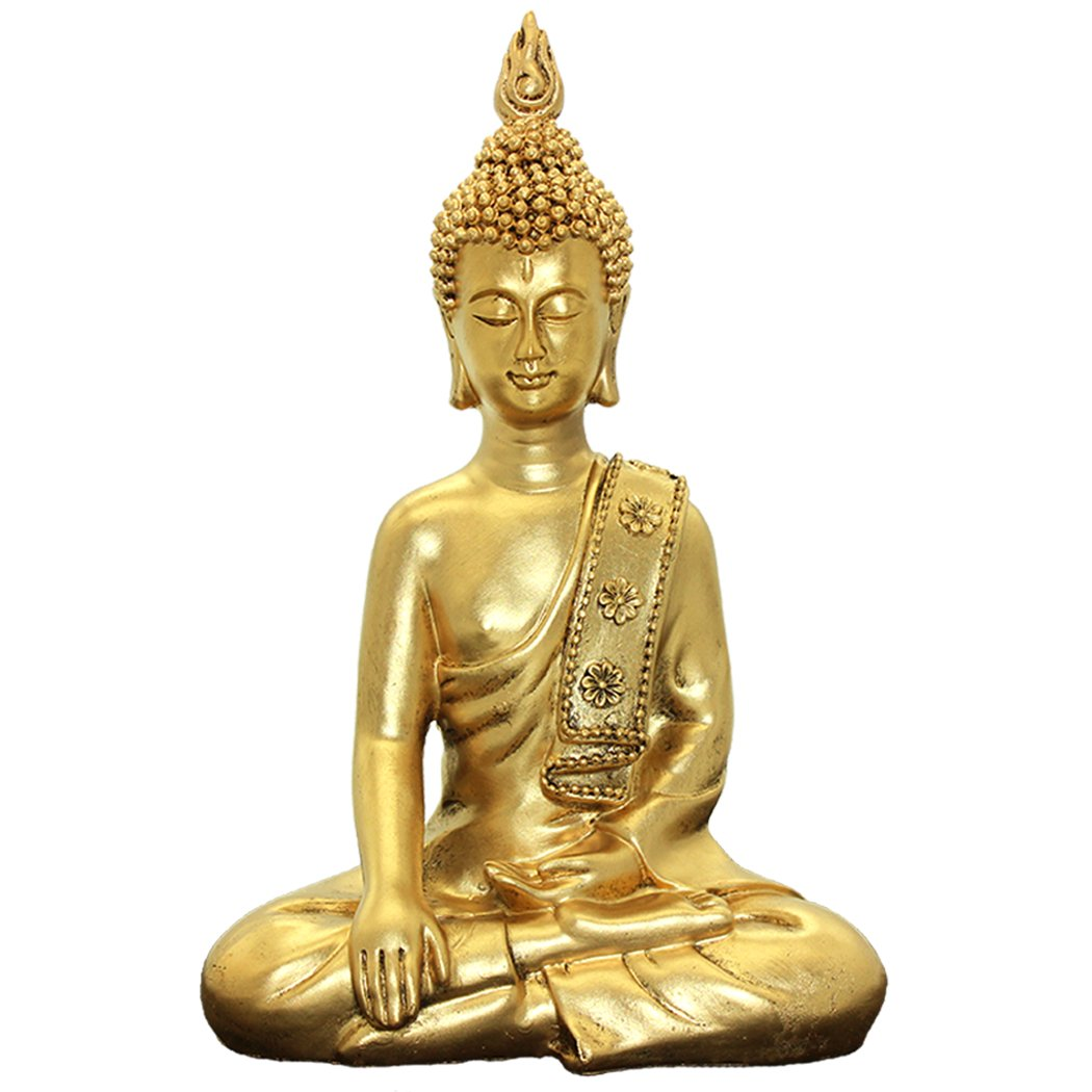Thai Buddha Ornaments Home Decoration Crafts Resin Buddha Statue BS117 by Brass Statu
