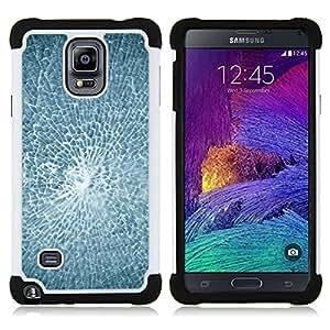 - Smashed Broken Glass/ H??brido 3in1 Deluxe Impreso duro Soft Alto Impacto caja de la armadura Defender - SHIMIN CAO - For Samsung Galaxy Note 4 SM-N910 N910