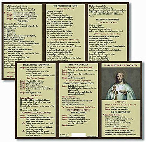 Catholic Mass Prayer and Responses Pocket (Catholic Prayer Card)