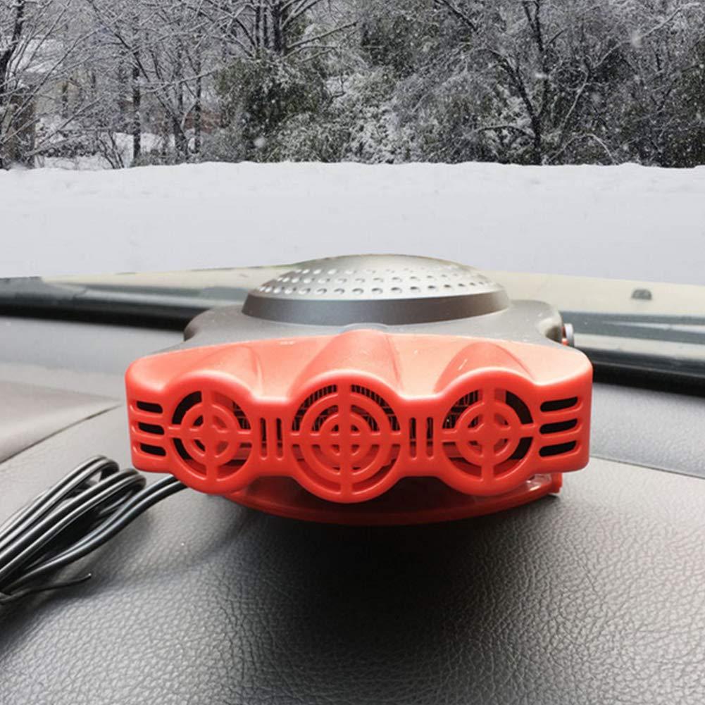 Red Head Beito Refroidissement Voiture Ventilateurs 12V 150W Ventilateur de Refroidissement pour v/éhicules de 3 Trous /à Chaud Chaud Chauffage Pare-Brise Anti-bu/ée D/égivreur 2 en1 Portable Car Auto