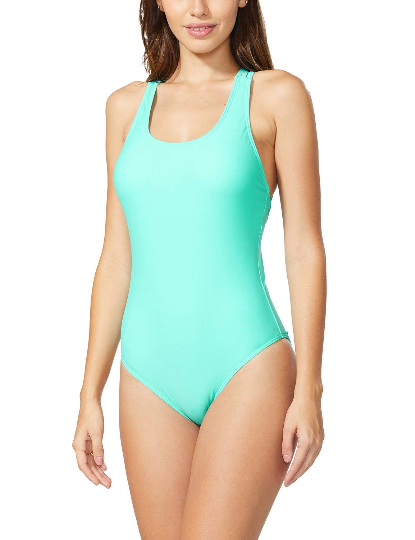 Baleaf Women's One Piece Swimsuits Tummy Control Bathing Suits Sexy Monokini Blue XS