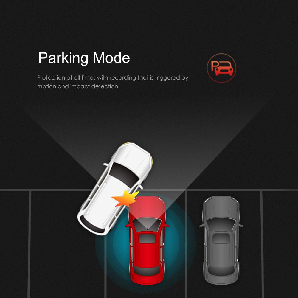 24H Parking Monitor Loop Recording G-Sensor Mobile APP VIOFO A129 Duo Dash Cam Dual Camera Front and Rear Full HD 1080P Wi-Fi Sony STARVIS Sensor Super Night Vision GPS and 32GB SD Card Included