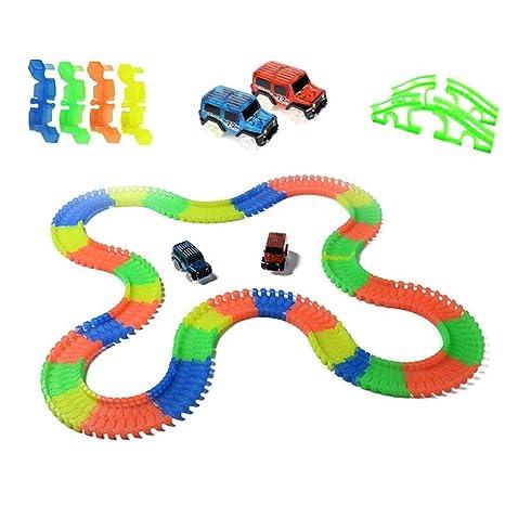 Juguetes pistas de carreras Juguete luminoso del coche de ...