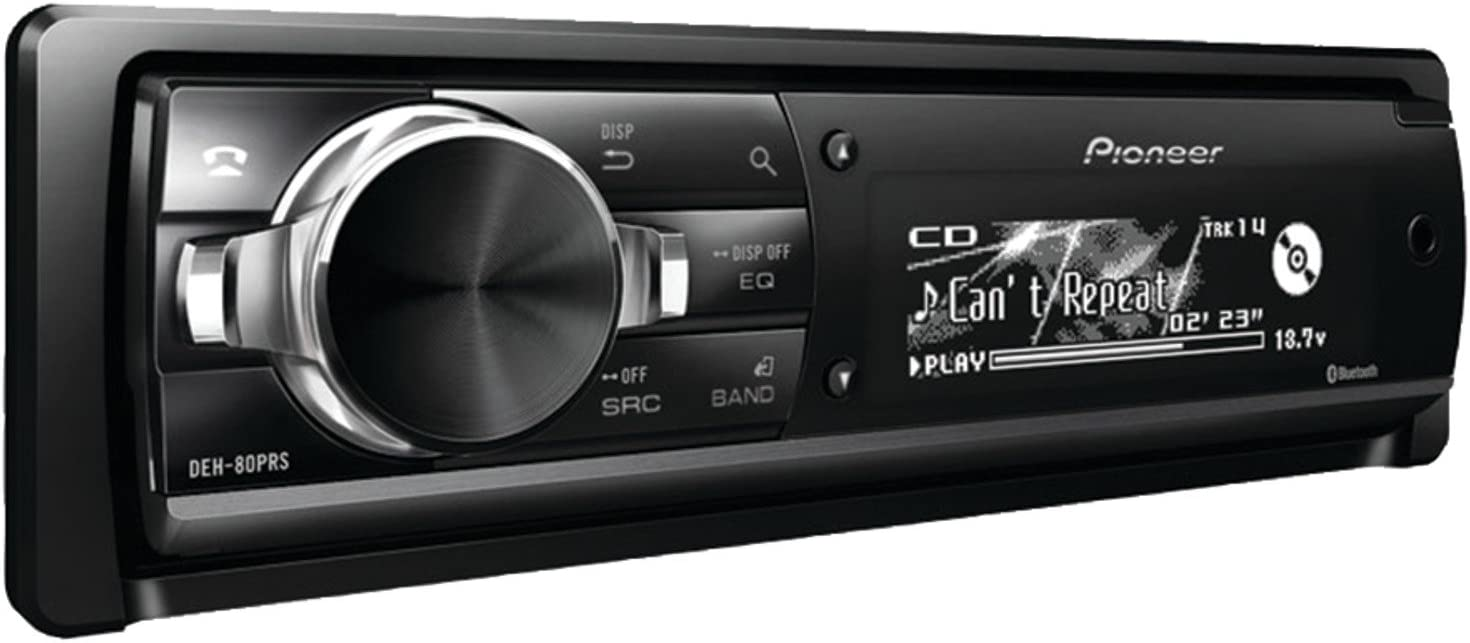 Pioneer DEH80PRS Single-Din In-Dash Cd Receiver With Bluetooth