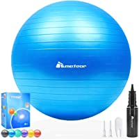 Meteor Anti-Burst Yoga Ball Swiss Ball with Air Pump for Exercise Pilates Balance Workout Fitness Pregnant Therapy…