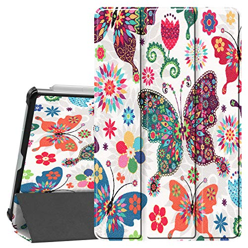 Smart Case for Galaxy Tab S6 Lite, Ratesell Lightweight Smart Trifold Stand Case Cover with Auto Sleep/Wake for Samsung Galaxy Tab S6 Lite 10.4 Inch Model SM-P610 / SM-P615 / SM-P617 Butterfly