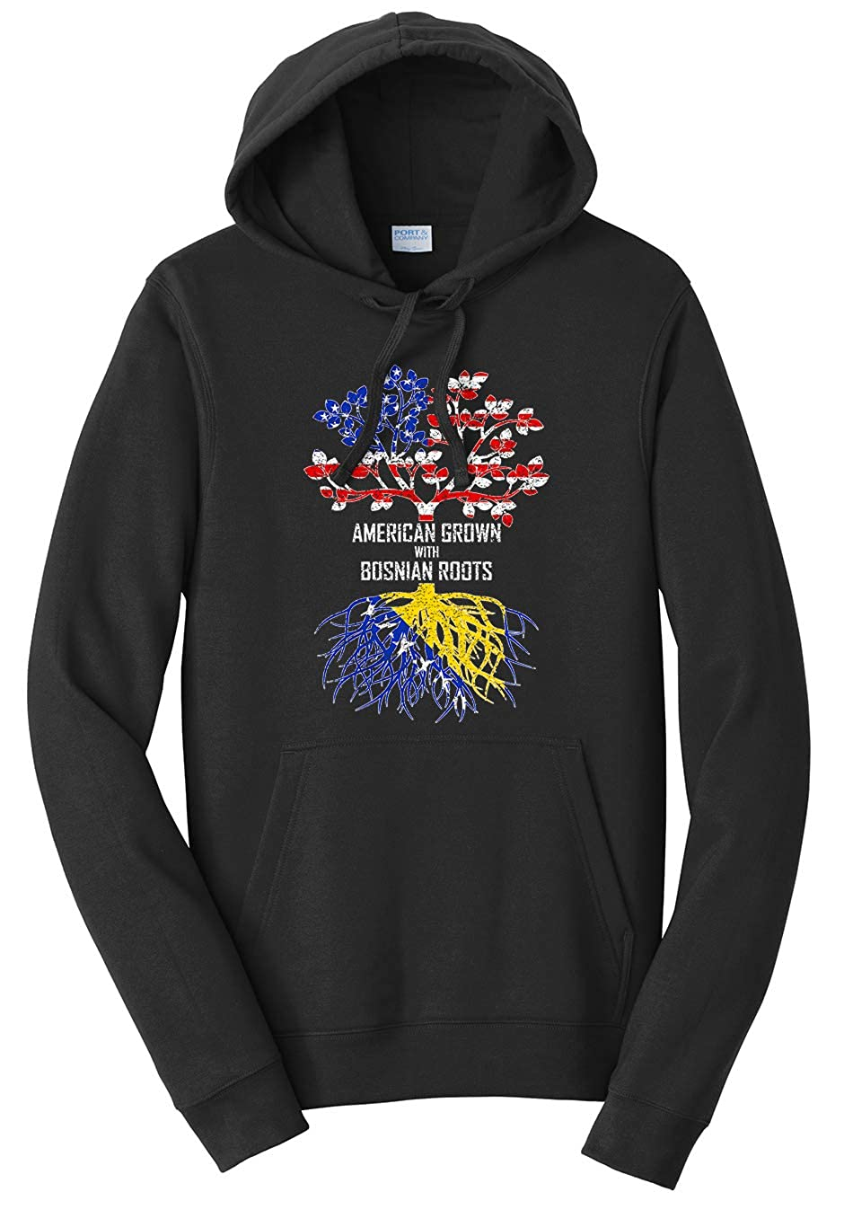 Tenacitee Unisex American Grown with Bosnian Roots Sweatshirt