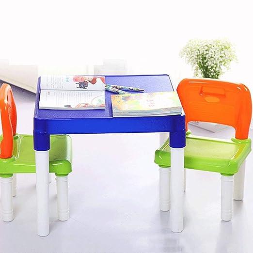 Mhjmijb Tabla Estudio y Juego de sillas, for niños Mesa de niños y ...