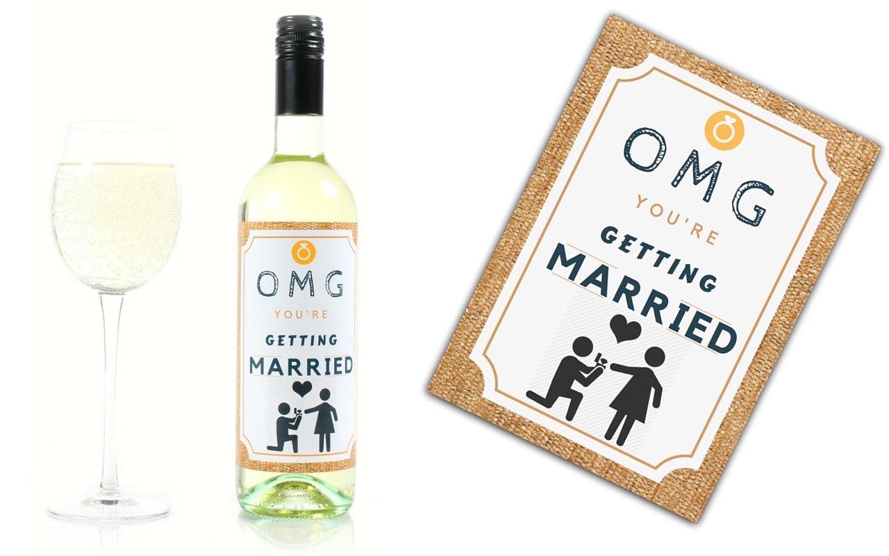 Amazon.com | Wine Bottle Wedding Labels for Engagement Party ...