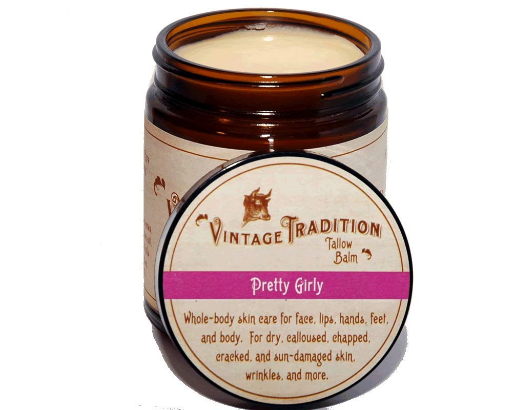 Vintage Tradition Pretty Girly Tallow Balm, 100% Grass-Fed