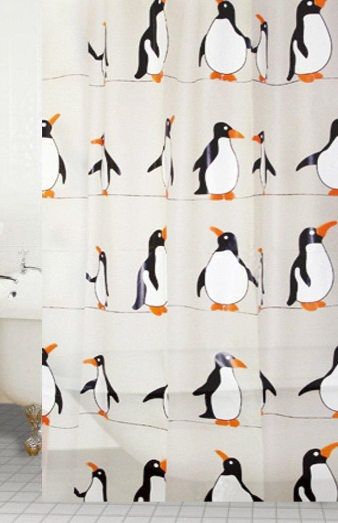 penguin shower curtains