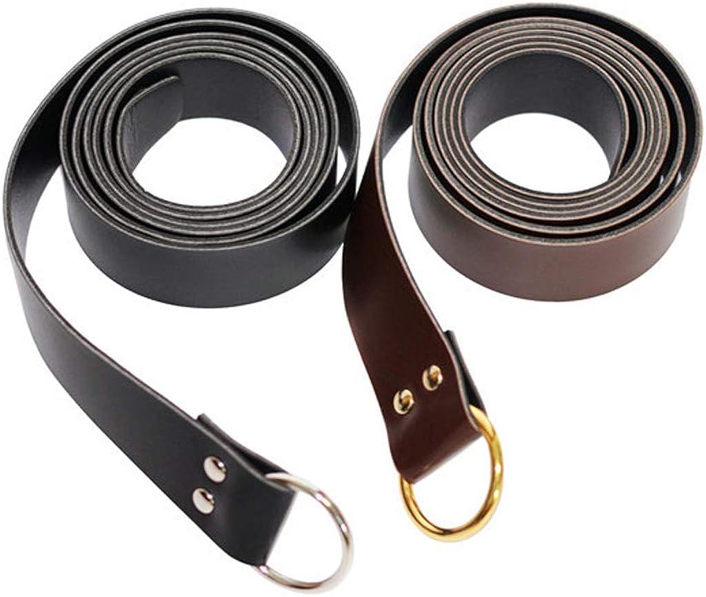 HappyStory Knight Belt PU Leather Medieval Renaissance Girdle Viking Knight Sabre Belt