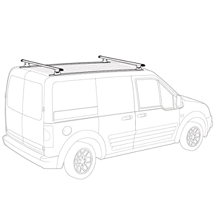 light duty 50 factory w tracks white vantech transit connect 2008 Ford Caravan light duty 50 factory w tracks white vantech transit connect 2008 13 j1000 w tracks ladder roof rack 50 bars amazon in home improvement