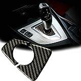 车内装饰盖贴纸真正的碳纤维适用于宝马 3 4 系列 F30 F31 F34 F32 Console Gear Shift Knob #KR27-H