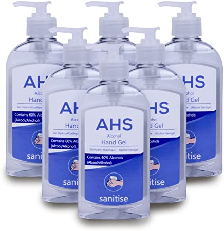 6 Pack Of Powerful Ahs Alcohol Hand Sanitiser Gel Nhs Grade