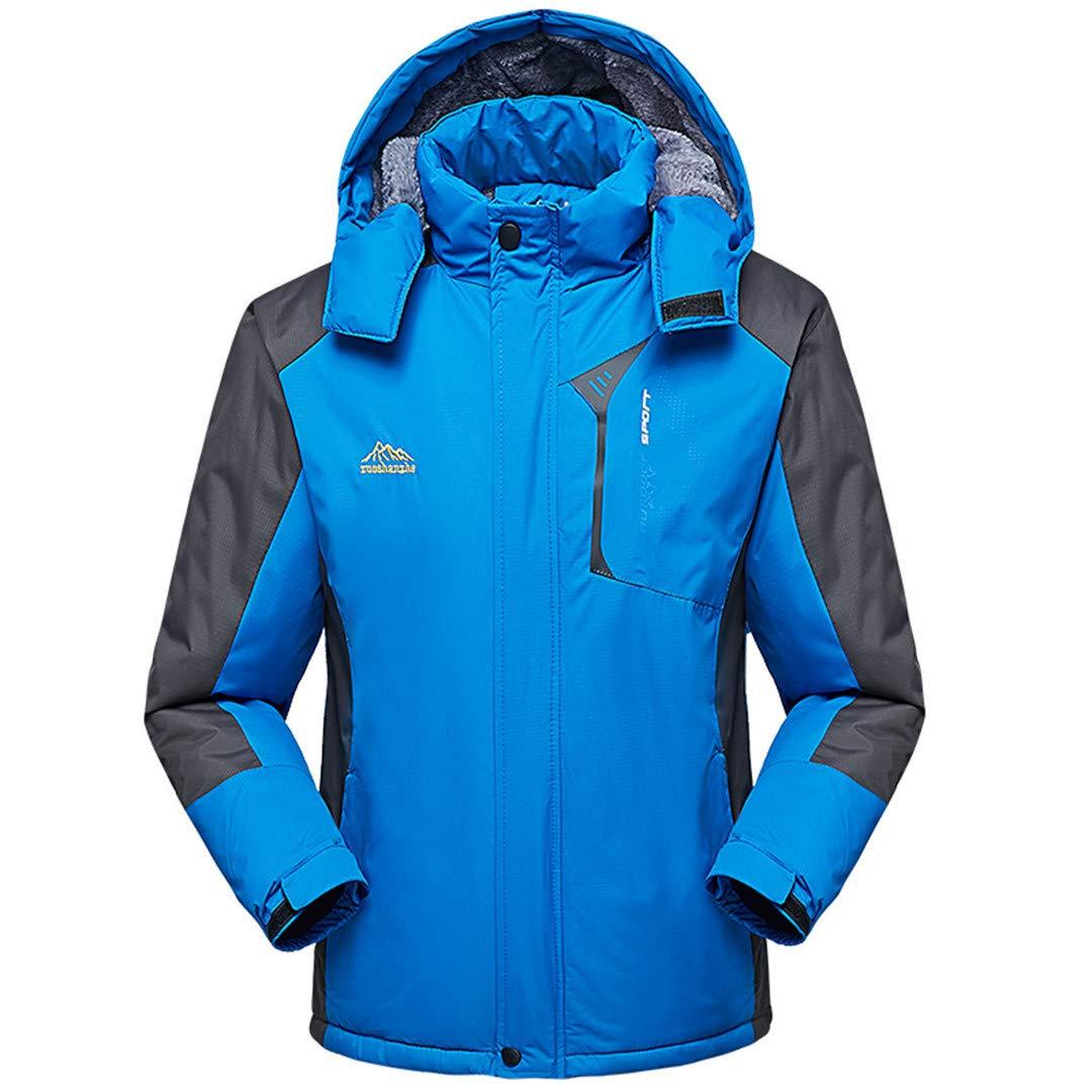 Jackenstr Herren Winter verdickte Sports dünne Lange Hülsen-Jacke Wandern Ski Warm Outwear Coats
